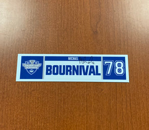 #78 Michael Bournival Home Nameplate - 2019 Calder Cup Playoffs - SIGNED