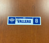 #8 Nolan Valleau Home Nameplate - 2019 Calder Cup Playoffs SIGNED