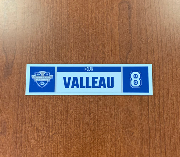#8 Nolan Valleau Home Nameplate - 2019 Calder Cup Playoffs