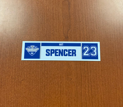 #23 Matt Spencer Home Nameplate - 2019 Calder Cup Playoffs