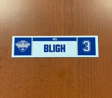 #3 Nick Bligh Home Nameplate - 2019 Calder Cup Playoffs