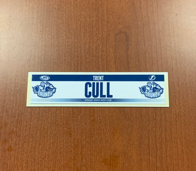 Assistant Coach Trent Cull Home Nameplate