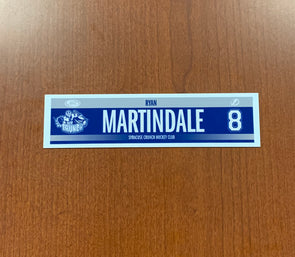 #8 Ryan Martindale Road Nameplate - 2014-16