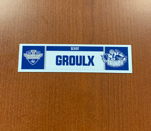 Head Coach Benoit Groulx Home Nameplate - 2019 Calder Cup Playoffs