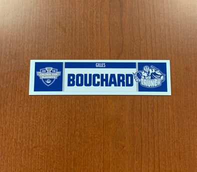 Assistant Coach Gilles Bouchard Home Nameplate - 2019 Calder Cup Playoffs