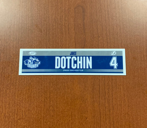 #4 Jake Dotchin Road Nameplate - 2014-17