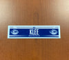 Assistant Coach Ken Klee Road Nameplate - 2017-19