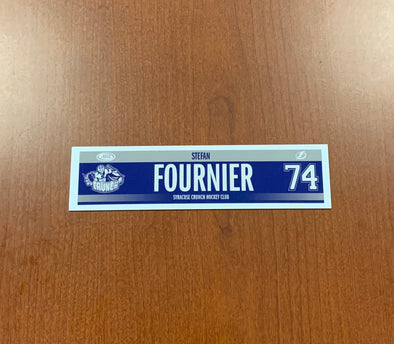 #74 Stefan Fournier Road Nameplate - 2016-17