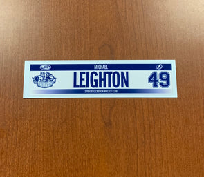 #49 Michael Leighton Home Nameplate - 2017-18