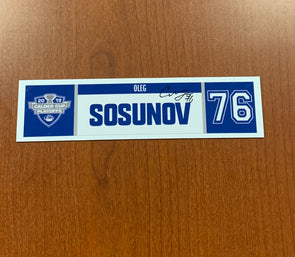 #76 Oleg Sosunov Home Nameplate - 2019 Calder Cup Playoffs SIGNED