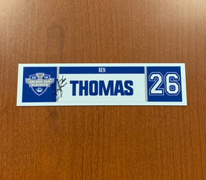 #26 Ben Thomas Home Nameplate - 2019 Calder Cup Playoffs SIGNED