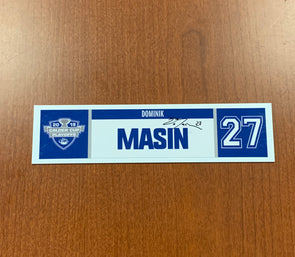 #27 Dominik Masin Home Nameplate - 2019 Calder Cup Playoffs SIGNED
