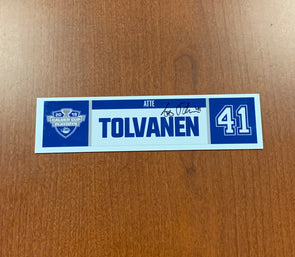 #41 Atte Tolvanen Home Nameplate - 2019 Calder Cup Playoffs SIGNED