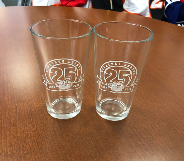 Pair of Pint Glasses - 25th Anniversary
