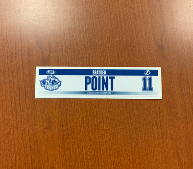 #11 Brayden Point Home Nameplate, 2014-15
