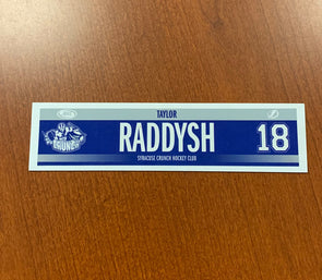 #18 Taylor Raddysh Road Nameplate - 2018-20