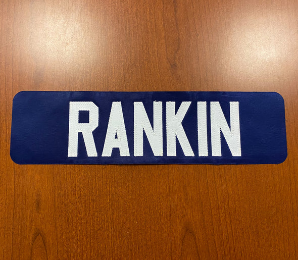 #11 Evan Rankin Blue Name Bar