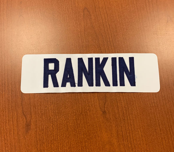 #11 Evan Rankin Name Bar - White Jersey