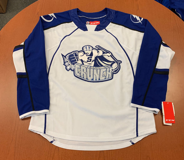 Syracuse Crunch Adult Replica Jersey - White