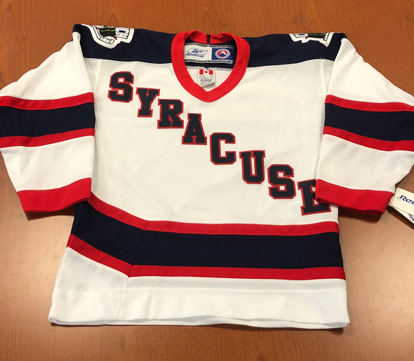 Syracuse Replica White SYRACUSE Jersey - YOUTH - Columbus Era