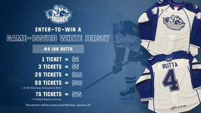 #4 Jan Rutta White Jersey Raffle - 20 for $10
