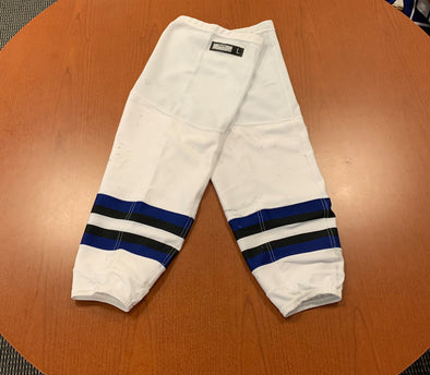 White Game-Used Socks - CCM - Tampa Bay Era - Cut Resistant