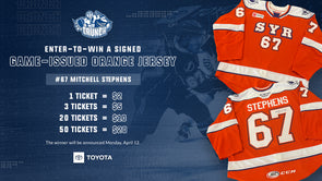 #67 Mitchell Stephens Signed Orange Jersey Raffle - 1 for $2