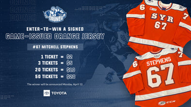 #67 Mitchell Stephens Signed Orange Jersey Raffle - 3 for $5