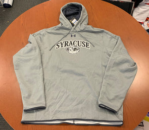 Grey Sweatshirt - Under Armour Double Threat Hooded Sweatshirt