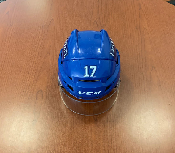 #17 Jonne Tammela Game-Used Blue Helmet - 2019-20