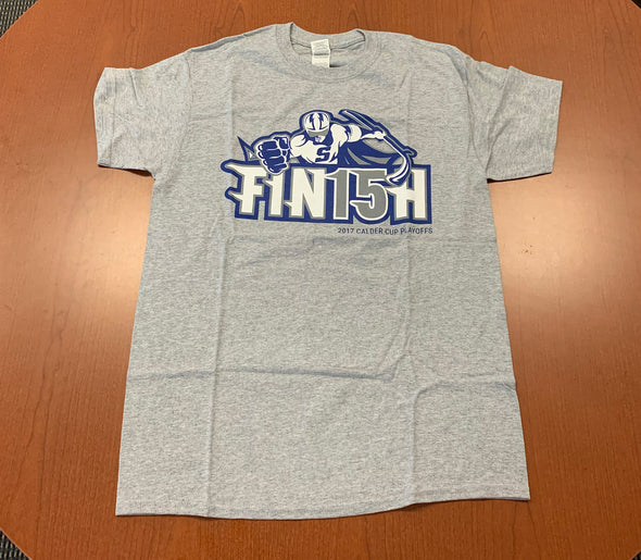 Fin15h T-Shirt (Grey) - 2017 Calder Cup Playoffs