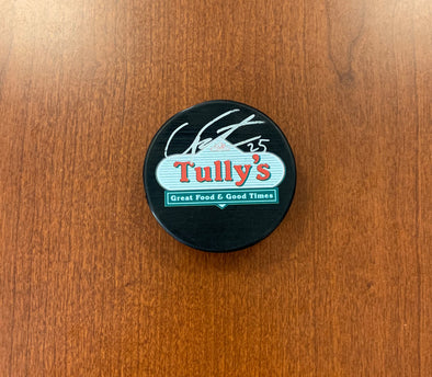#25 Cal Foote AUTOGRAPHED Tully's Puck - 2019-20