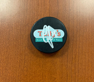#24 Cameron Gaunce AUTOGRAPHED Tully's Puck - 2019-20