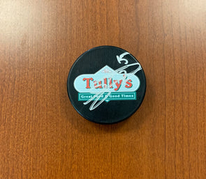 #15 Jimmy Huntington AUTOGRAPHED Tully's Puck - 2019-20
