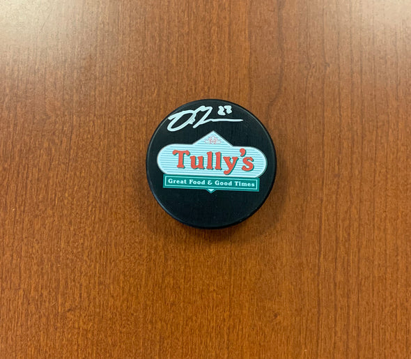 #27 Dominik Masin AUTOGRAPHED Tully's Puck - 2019-20