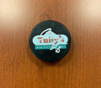 #76 Oleg Sosunov AUTOGRAPHED Tully's Puck - 2019-20