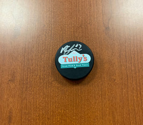 #67 Mitchell Stephens AUTOGRAPHED Tully's Puck - 2019-20