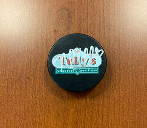 #8 Nolan Valleau AUTOGRAPHED Tully's Puck - 2019-20