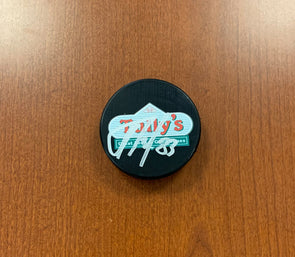 #83 Alexander Volkov AUTOGRAPHED Tully's Puck - 2019-20