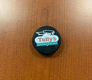 #85 Daniel Walcott AUTOGRAPHED Tully's Puck - 2019-20