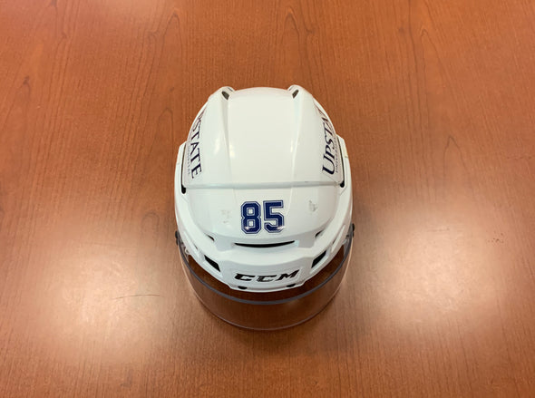 #85 Daniel Walcott Game-Used White Helmet - 2018-19