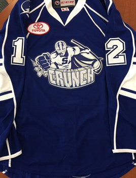 Syracuse Crunch #12 Terrence Wallin Jersey