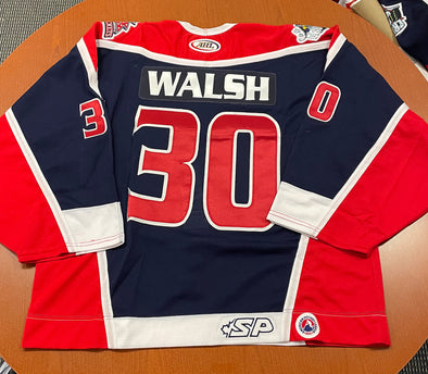 #30 Mike Walsh Blue Jersey - 2002-03