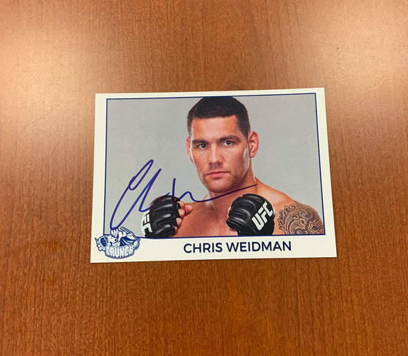 Chris Weidman Autographed Photo