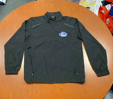 Black Lightweight Windbreaker