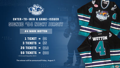 #4 Mark Wotton '94 Night Jersey Raffle - 20 for $10