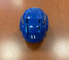 #11 Dennis Yan Game-Used Blue Helmet - 2018-19
