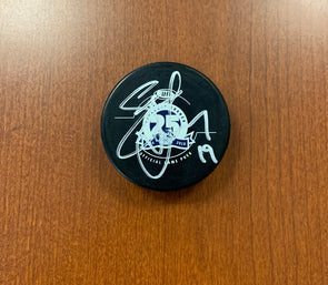 #19 Steve Yzerman 25th Season Game Puck - SIGNED
