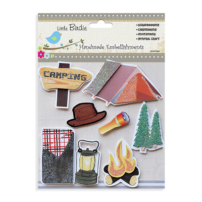 Self adhesive Stickers - Camping, 8pcs