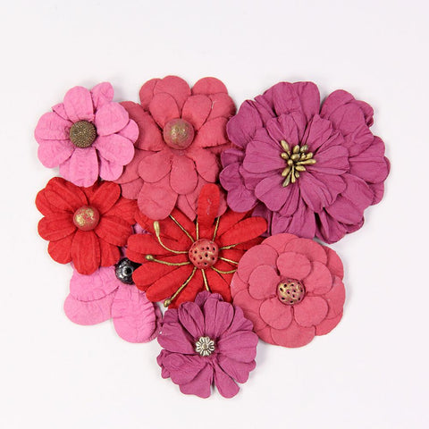 Handmade Flower Symphony Flowers Passion, 8pcs
